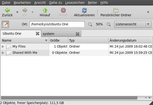 UbuntuOne-Browser