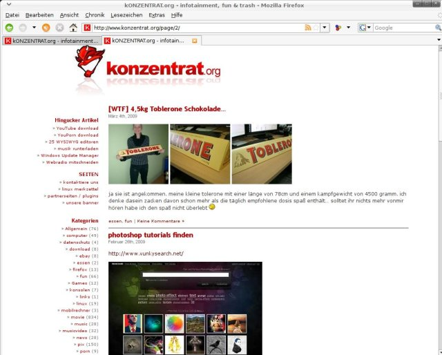 minimal wordpress theme konzentrat screenshot